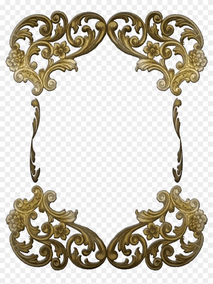 Free Ornate Victorian Frame - Art Deco Gold Frame Png #442006