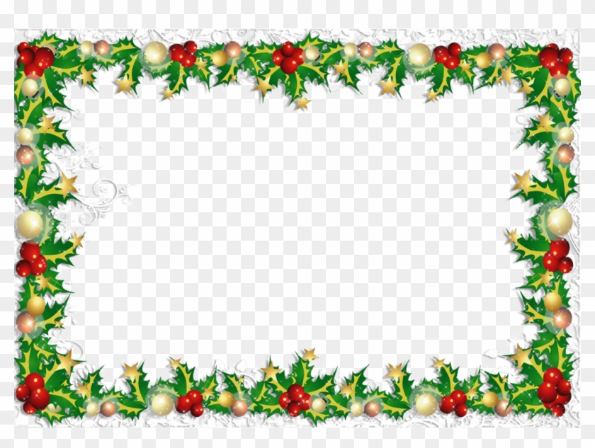Transparent Png Christmas Photo Frame - Christmas Card Borders Png #442067