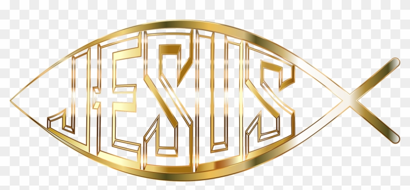 Jesus Fish Gold No Background Icons Png Free Png And - Christian Fish Transparent Background #442842