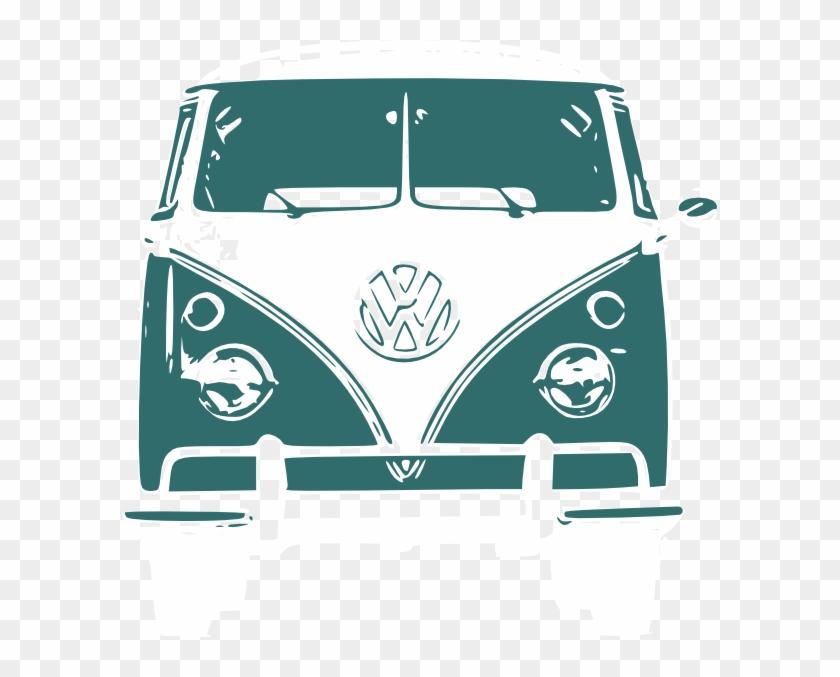 Vw Bus Clipart - Volkswagen Van Front View #442913