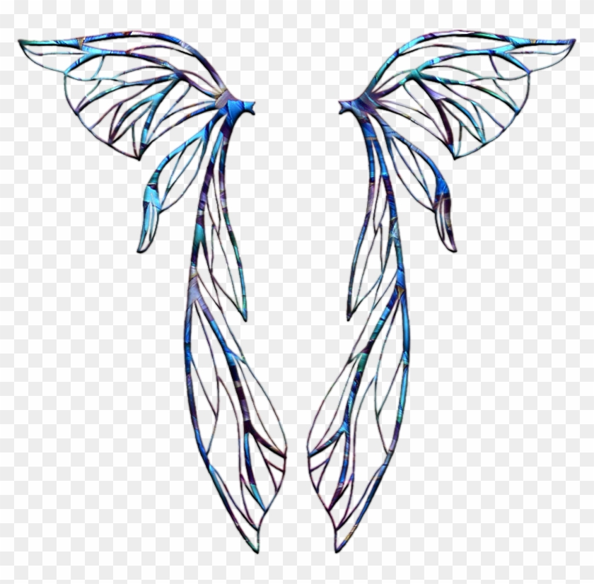 Fairy Wings Template - Fairy Wings Overlay Transparent #443456