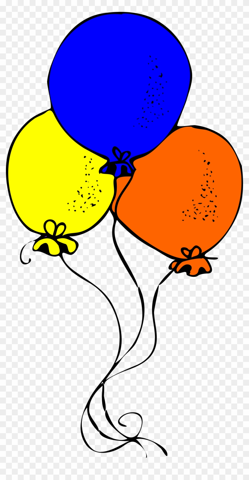 Big Image - Balloons Blue Orange And Yellow #443911