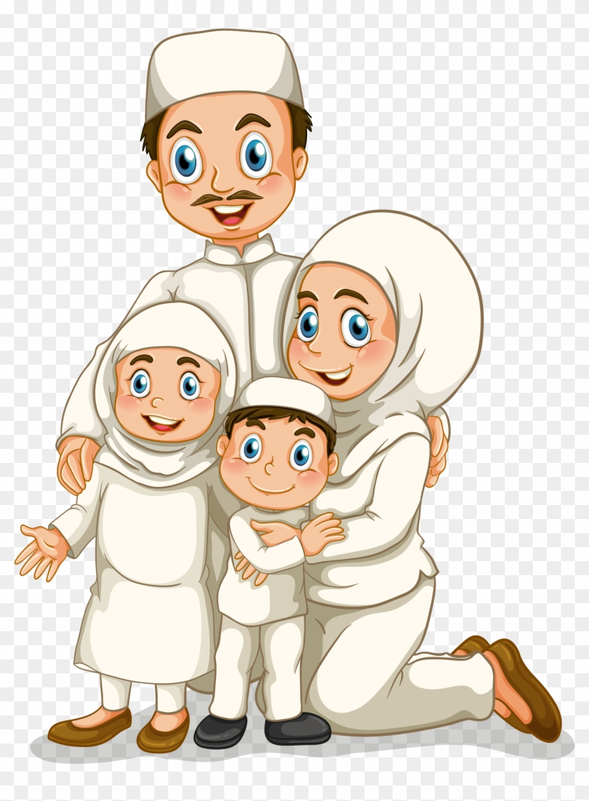 Today My Muslim Family Clipart 5 HERE
