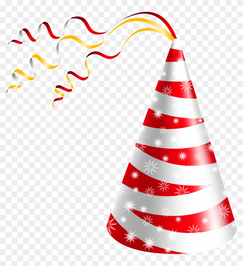 Birthday Hat White And Red Party Clipart Image