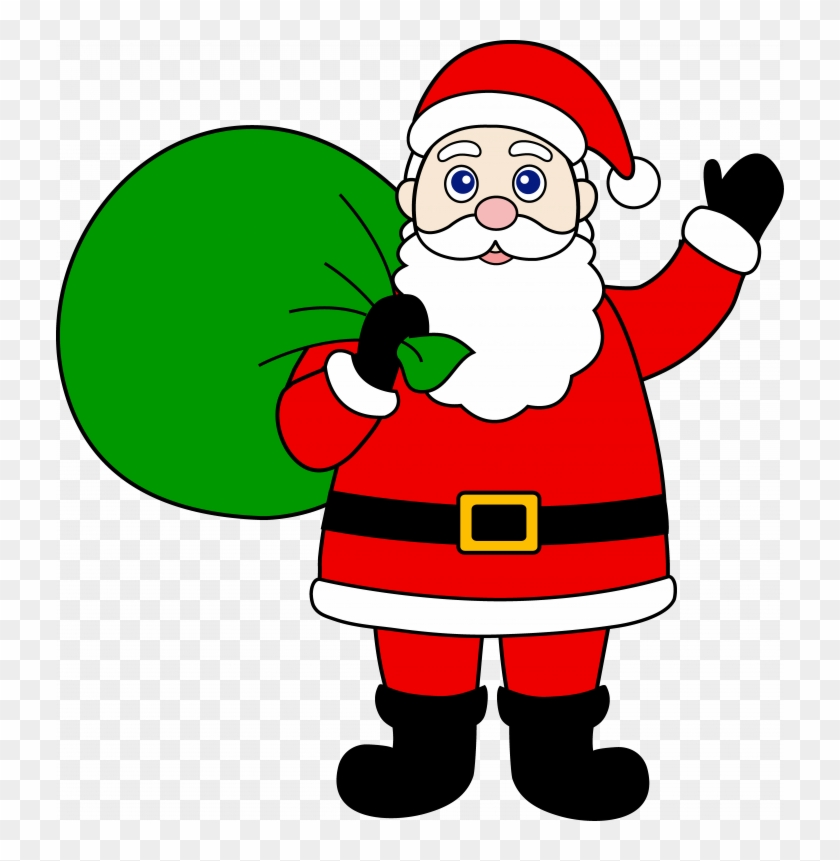 Cartoon Picture Of Santa Claus Clip Art Sack Gifts - Santa Claus Image Download #444484