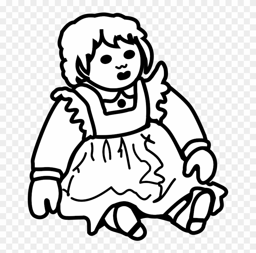 Posh Doll Outline Vector Illustration - Outline Picture Of A Doll #445044