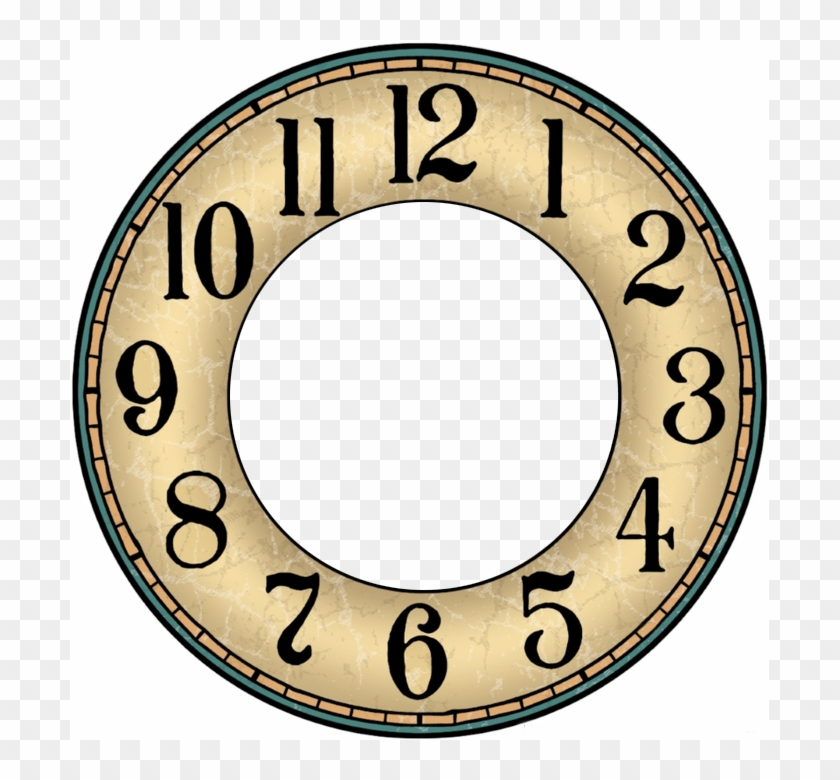 It is an image of Zany Printable Clock Template