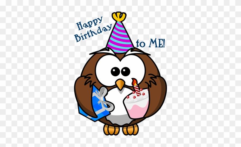 Birthday-owl - Cartoon Owl Shower Curtain #445872