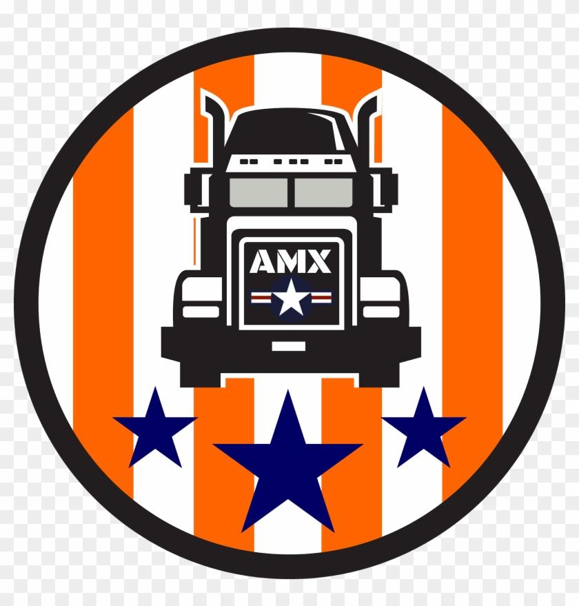 9597 Jones Rd, - Truck Usa Flag Circle Retro Round Ornament #446531