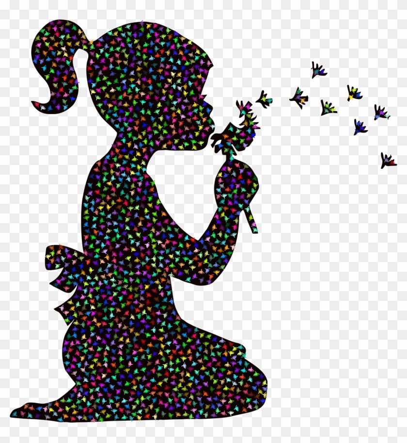 Dandelion Girl - Silhouette Girl #447387