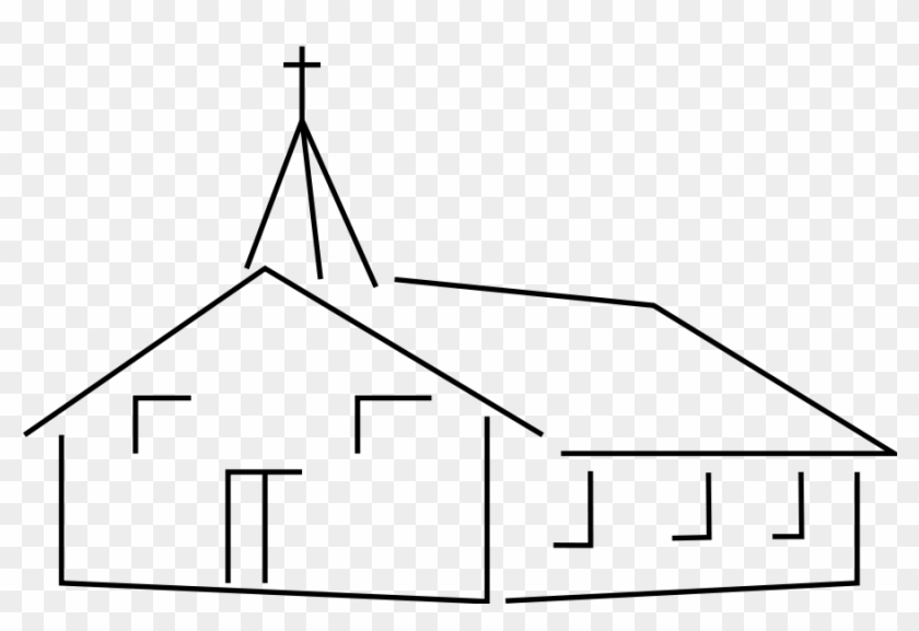 Church Building Clipart, Vector Clip Art Online, Royalty - Church Clipart Black And White #448124