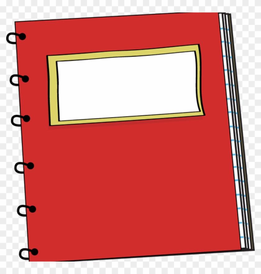 Notebook Clipart Red Spiral Notebook Clip Art Clipart - School Supplies Notebooks Clipart #448175