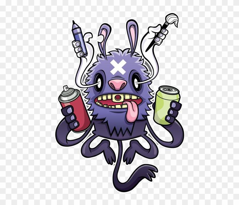 T Shirt Graffiti Monster Manga Dibujos De Monstruos Graffiti