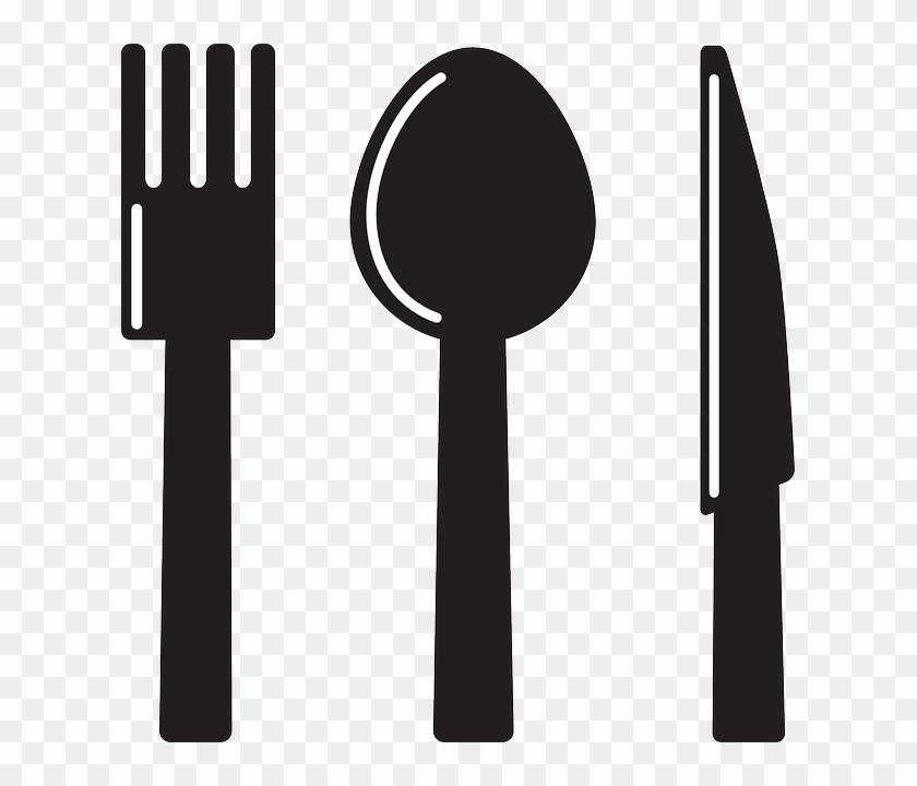 Spoon Cutlery, Fork, Knife, Silhouette, Spoon - Spoon & Fork Clip Art #449712