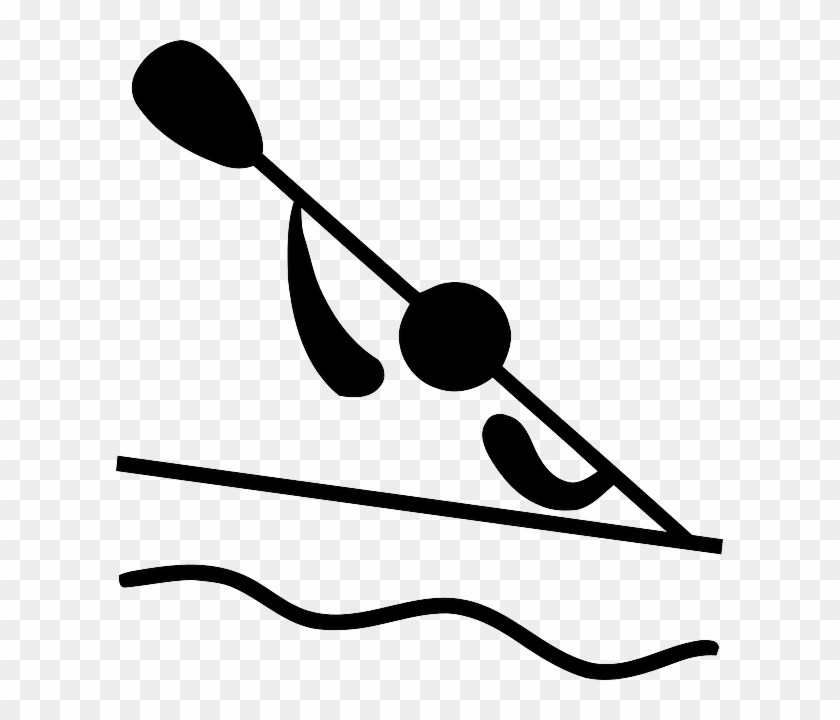 Pictogram Water, Symbol, Sport, Cartoon, Sports, Boat, - Olympic Canoeing #449773
