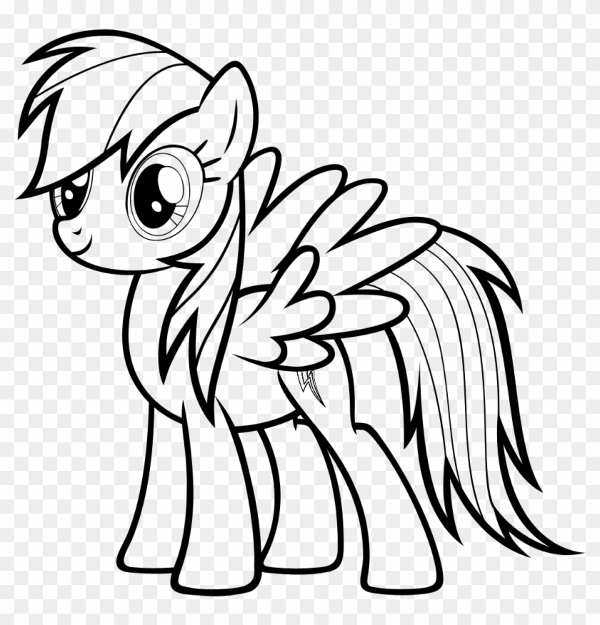 my little pony rainbow dash coloring pages Rainbow Dash Clipart Black And White   My Little Pony Rainbow Dash  my little pony rainbow dash coloring pages