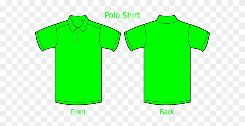 How To Set Use Polo Shirt Green Svg Vector - Polo Shirt Front And Back Green #449967