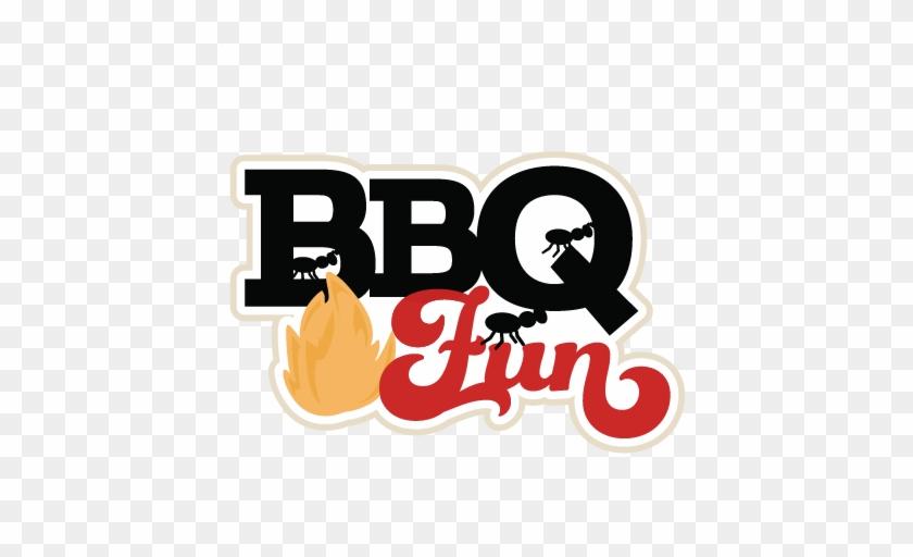 Bbq Fun Scrapbook Title Svg Cutting Files Summer Svg - Barbecue Titles #450043
