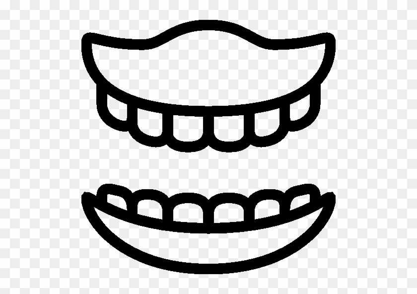 Healthcare False Teeth Icon - Mouth Tooth Icon Png - Free