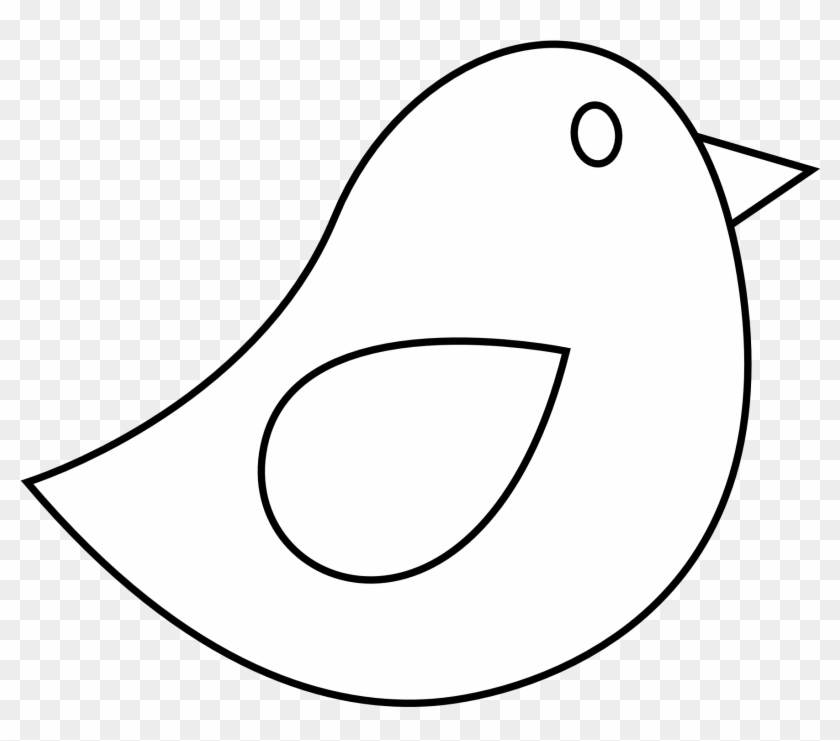 Black And White Bird Clip Art - Simple Pencil Drawings Of Birds #450415