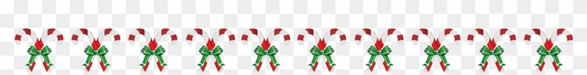 Christmas Candy Cane Border - Floral Design #451543