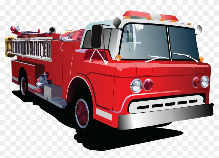 Fire Truck Clipart Cartoon Fire Engine Truck Vector Free Transparent Png Clipart Images Download