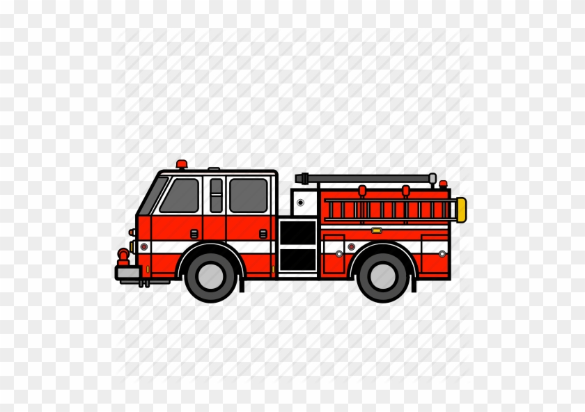 Fire Truck Left Red Icon - Free Fire Truck Icon #451623
