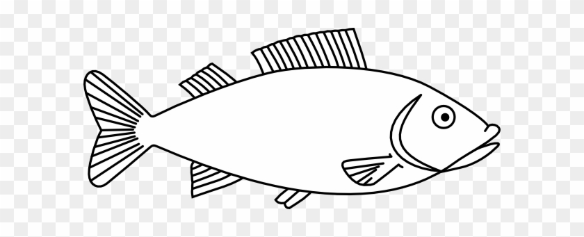 Absolutely Design Clip Art Fish Black And White Easy - Fish Outline #451771