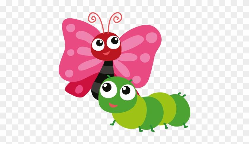 Caterpillars And Butterflies Class Page - Cartoon Caterpillars #452178