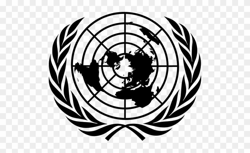 International Court Of Justice Maysash S Blog Rh Maysash - United Nations Flag Black And White #452854