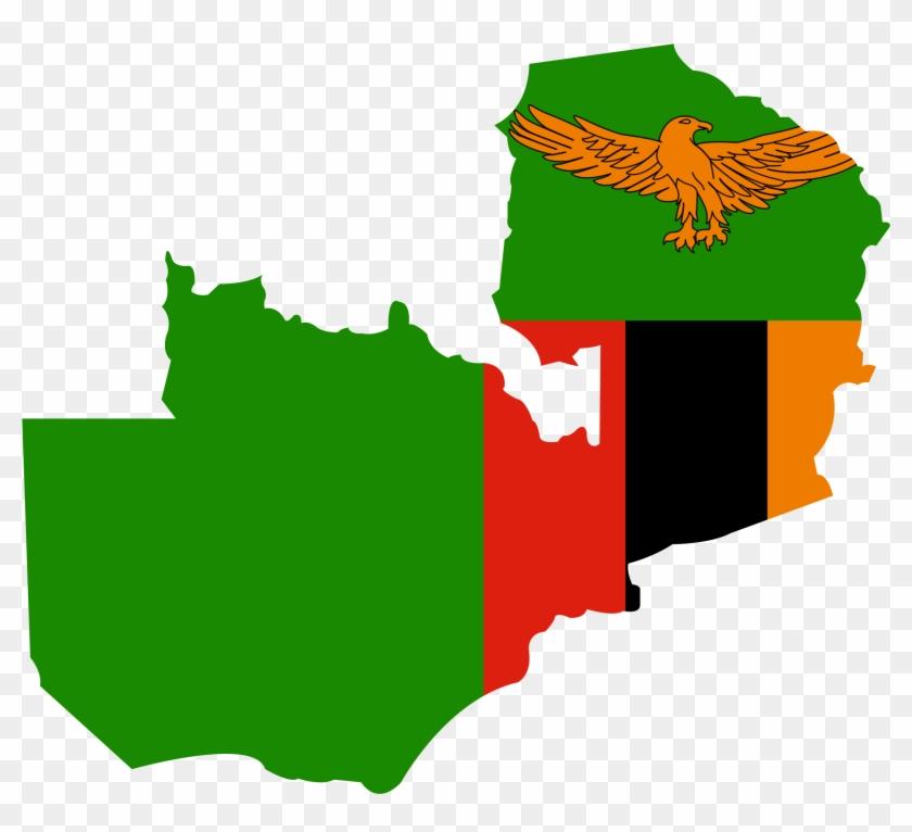 Zambiagraphic - Zambia Map And Flag #452902