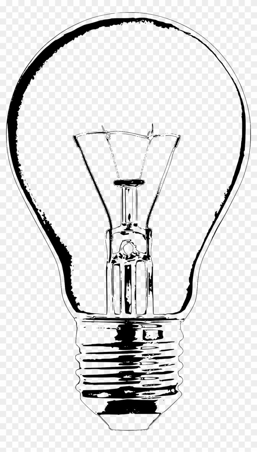 Incandescent Light Bulb Lamp Clip Art - Light Bulb Vector Sketch #453330