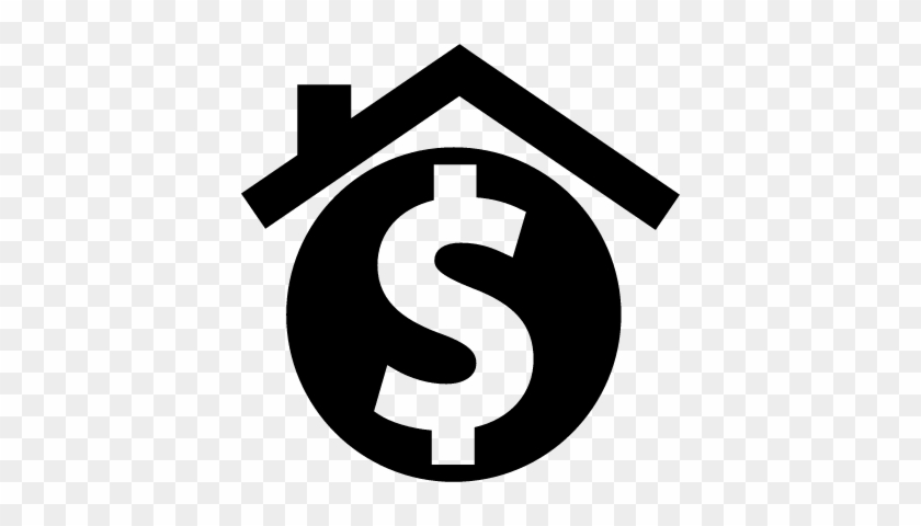 House With Dollar Sign For Real Estate Business Vector - House Dollar Sign Logo #453328