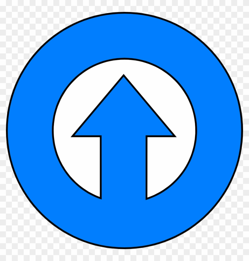 Illustration Of A Blue Up Arrow In A Circle Facebook Messenger