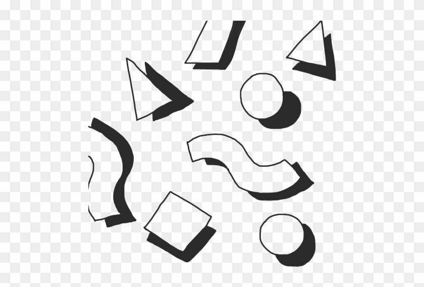 Various Shapes Black Shadows Digital Aesthetic Shapes Tumblr Png Free Transparent Png Clipart Images Download