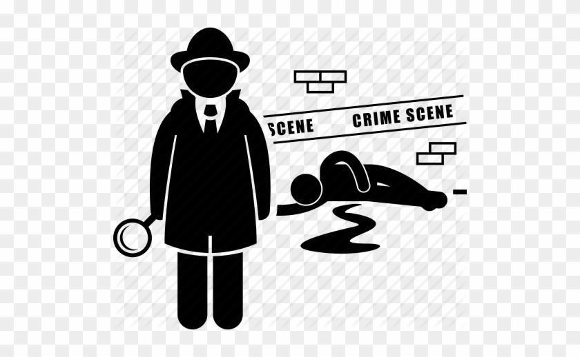 Crime Scene Chalk Outline - Investigator Icon #455201