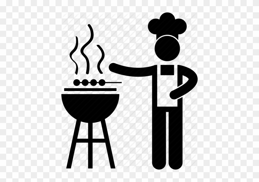 Bbq, Chef, Cook, Food, Meat, Seller, Stall Icon Icon - Exhibition Stall Icon Png #456931