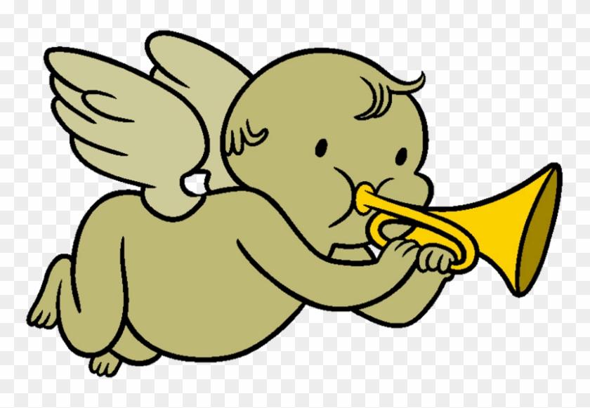 Cherub With Trumpet - Cherubs With Trumpets #457432