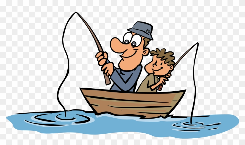 Funny Fisherman Cartoon Clipart Best - Father And Son - Free ... on