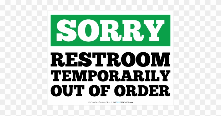 out of order sign template free printable out of order sign free