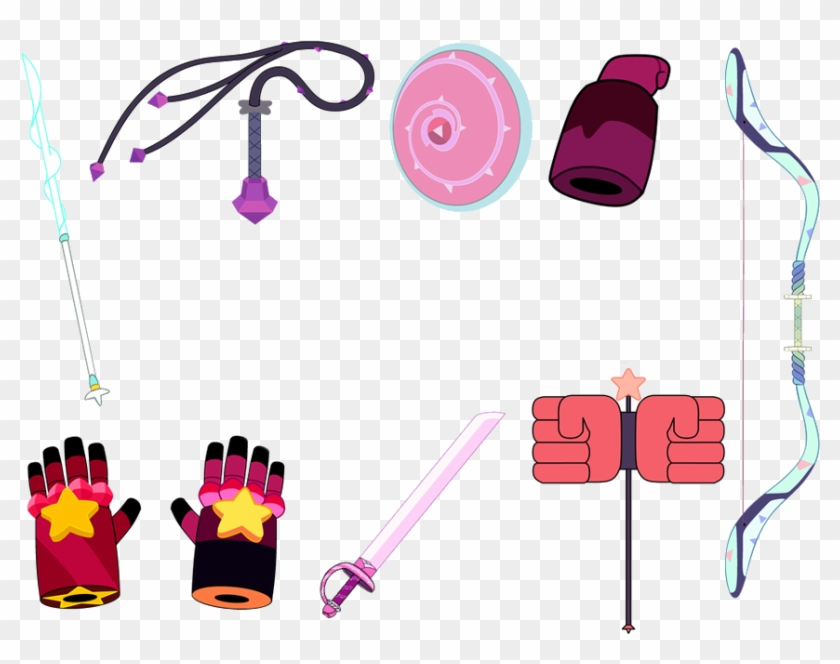 Steven Universe All Crystal Gems Weapons Without Lapis - Steven Universe Crystal Gems Weapons #458167