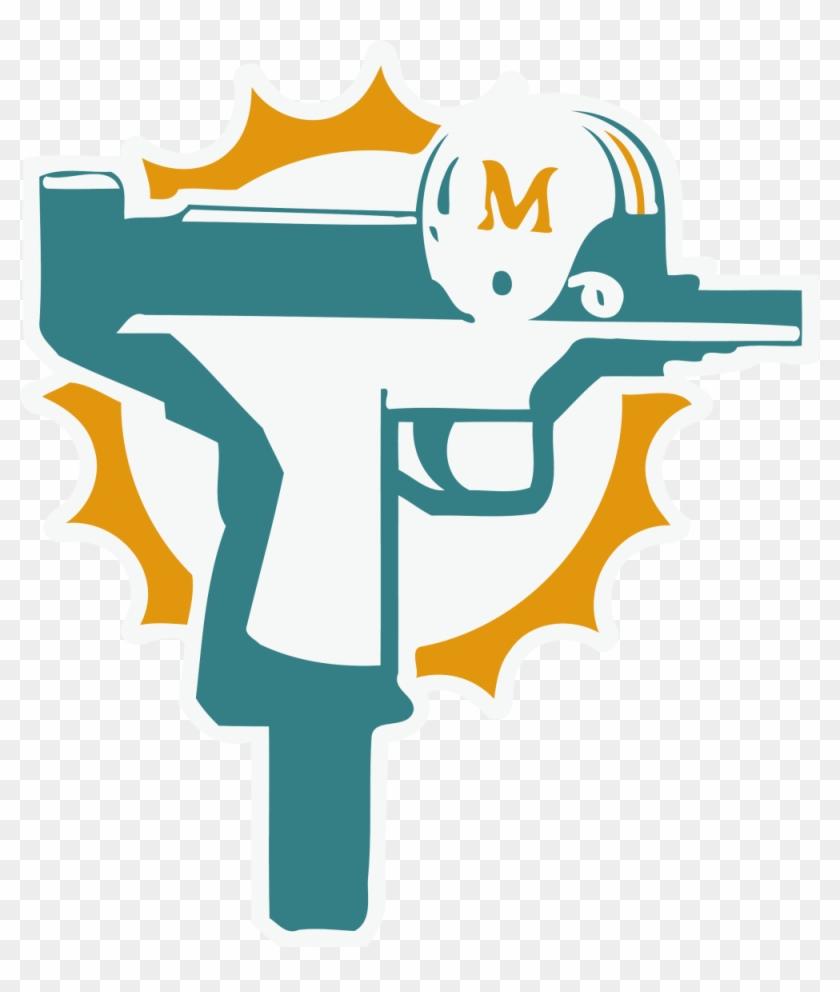 new concept a630a ff783 Custom Miami Dolphins Uzi Gun T Shirt Football Jersey ...