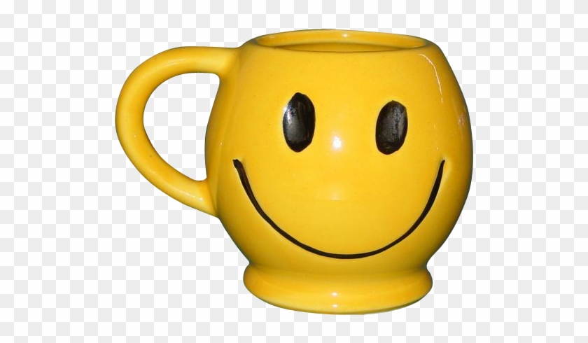 Vintage Mccoy Smiley Face Coffee Mug Tea Cup Usa 1970's - Smiley Face Coffee Mug #459303
