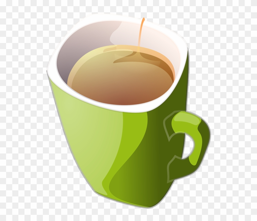 Royalty Free Clip Art Vector Cup Of Green Tea Or Coffee - Cup Of Tea Clipart #459360