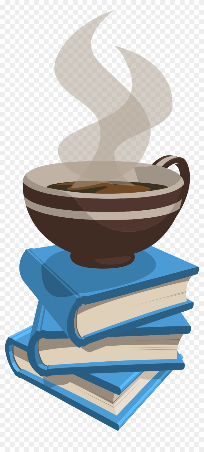 Winter Book Cliparts - Book And Coffee Logo #460336