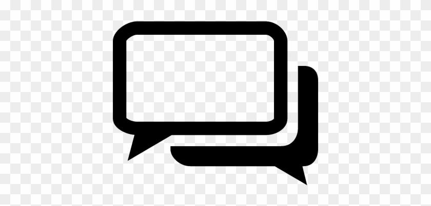 Black And White Chat Bubbles Vector - Online Chat #460435