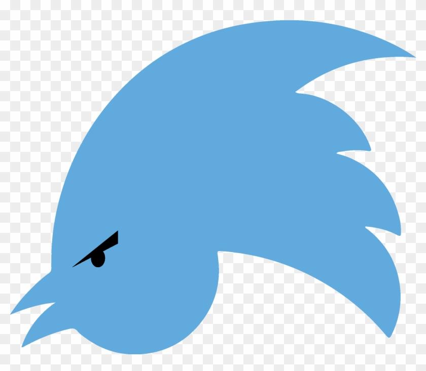 Social Media Beak Blue Bird Sky Leaf - Twitter Logo Upside