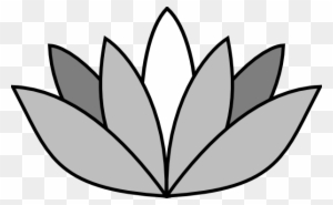 greyscale lotus flower clip art easy draw lotus flower free