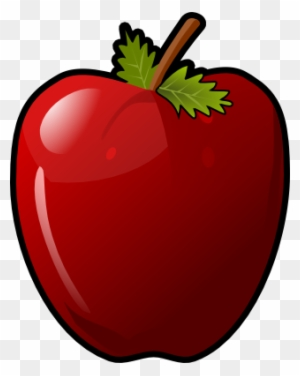 This Glossy Red Apple Clip Art Is Licensed Under A - Clip Art Pictures Of A