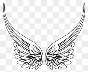 Angel Wings Clip Art Black And White Transparent Png Clipart Images Free Download Clipartmax